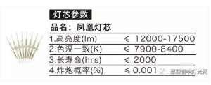 日月星凤凰系列舞台光束灯泡 采用日本先进制造技术压力容器